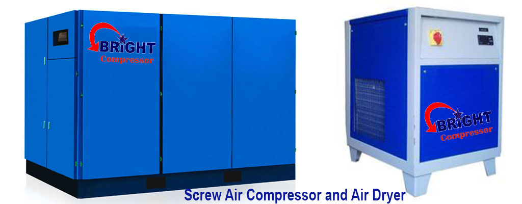 Screw Air Compressor and Air Dryer